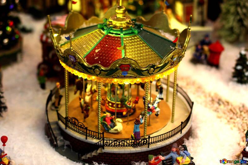 Deco noel carrousel