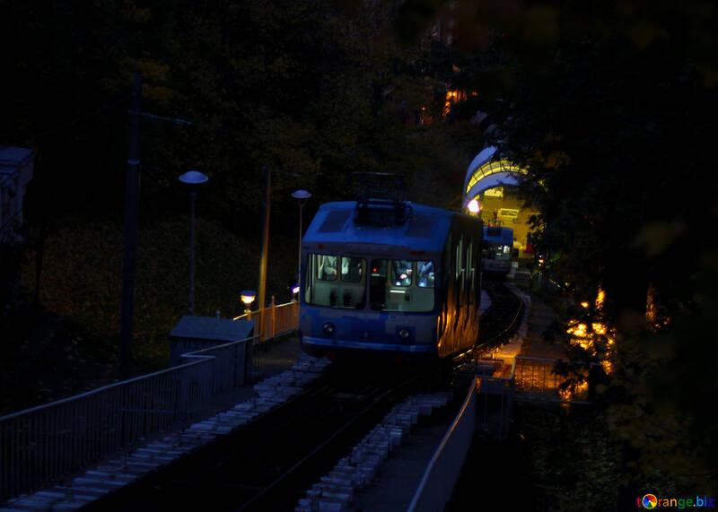 a train in the dark night  subway №49355
