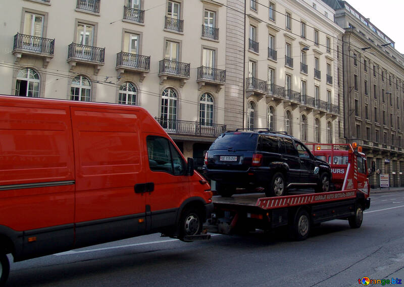 Car tow truck for two cars №49942