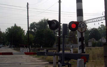 Red  light  at rail crossing №5879