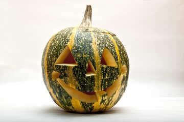 Candlestick of  pumpkin №5967
