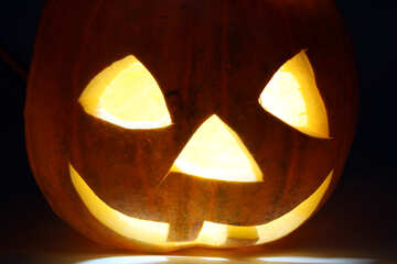 Lamp of the pumpkin at Halloween №5884