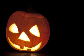 Muzzle  of the  pumpkin №5940