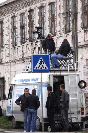 Kameramann an  Dach  Selbst №5197