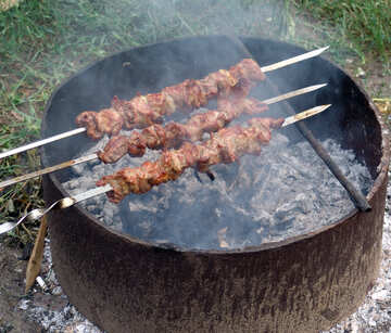 Meat on skewer №5859