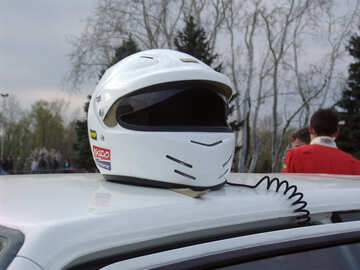 Racing helmet. Rally №5144