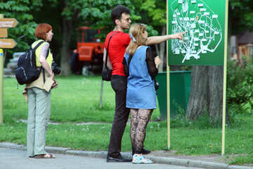 Tourists are exploring plan scheme №5087