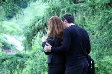 Guy  hugs  girl. №5061