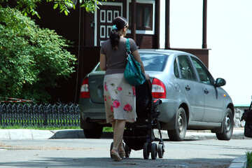 Woman   stroller