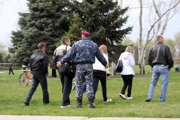 Polizei Zerstreung Leute №5209