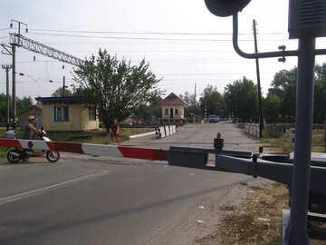 Sperre an Gleis Überfahrt №5878