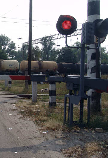 Freight train at railway crossing №5873