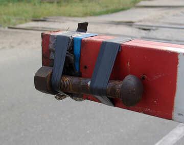 Arm  technisch  Bedingung  an Gleis Überfahrt №5867