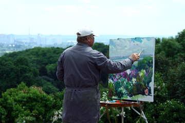Artist paints. №5062