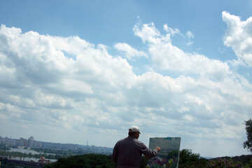 The artist paints the sky №5063