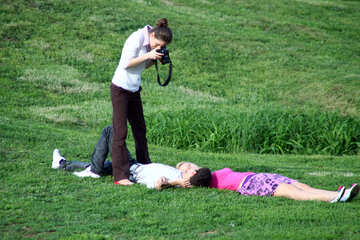 Photoshoot on the grass №5126