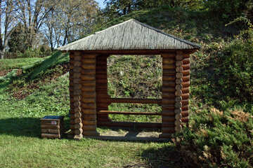 Arbour  of the  . wood log structure. №5683