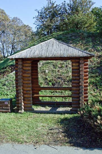 Wooden  arbor . framework. №5668