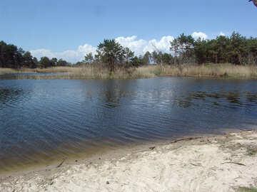 Playa en Lago №5592