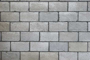 The wall of concrete blocks.texture.