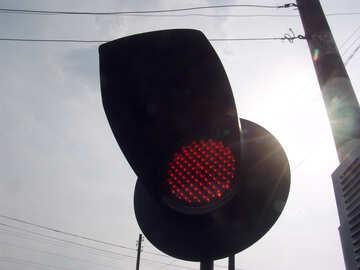 Verbietet  Licht  Warnung  an  Kreuzungen   Schiene  Weisen №5875