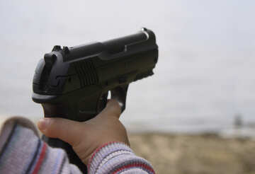 The gun in the hands of child №5435
