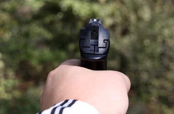Pistol in his hand №5443