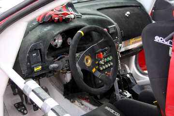 Sports rally car inside №5202