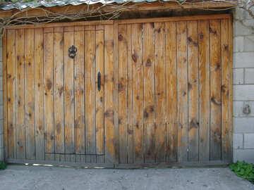 Деревянные ворота. №5334