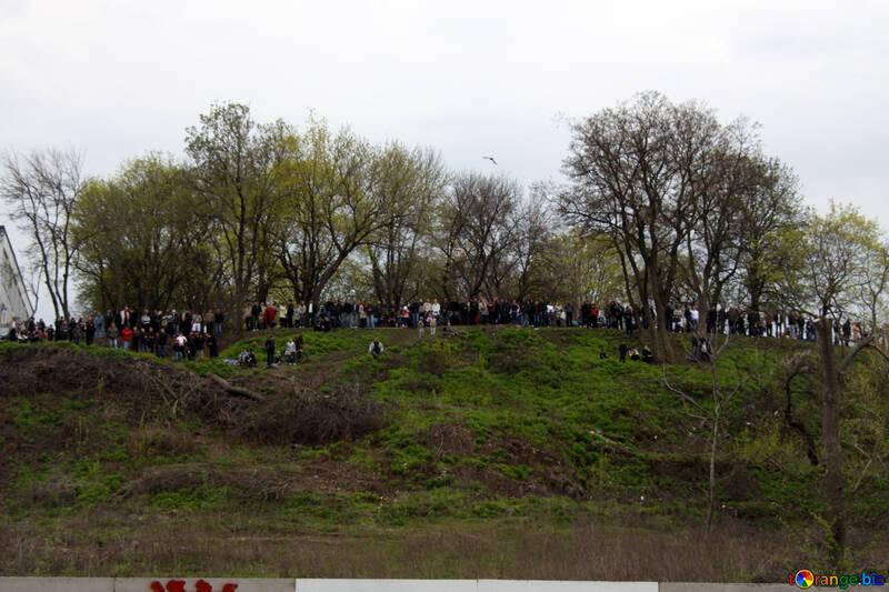 Spectators on the hills №5217