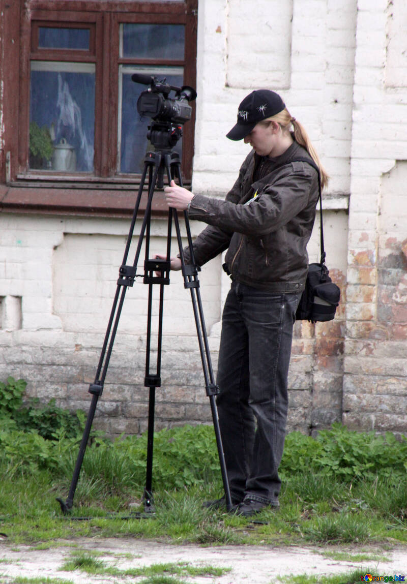 Girl with video camera №5205