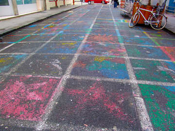 Old drawings on the asphalt №50193