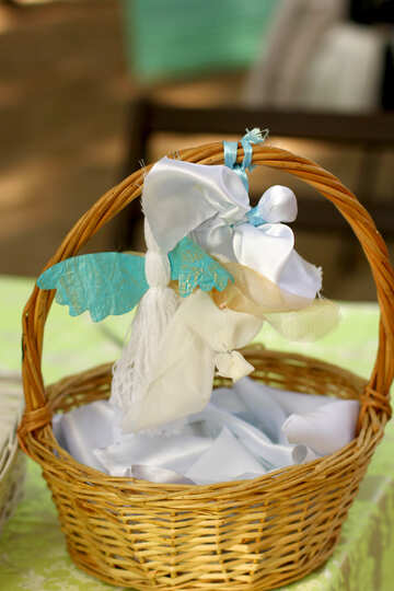 basket with  angel №50971
