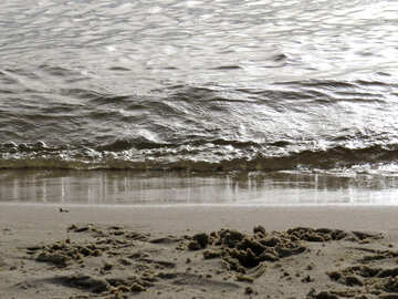Wave on the beach ocean sand water sea №50673