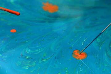 Blue orange paint texture