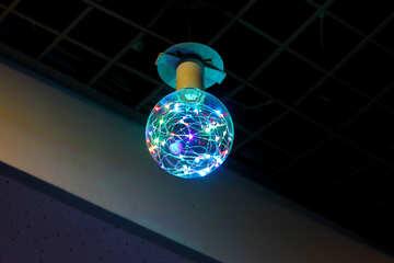 Round colors light bulb №50385