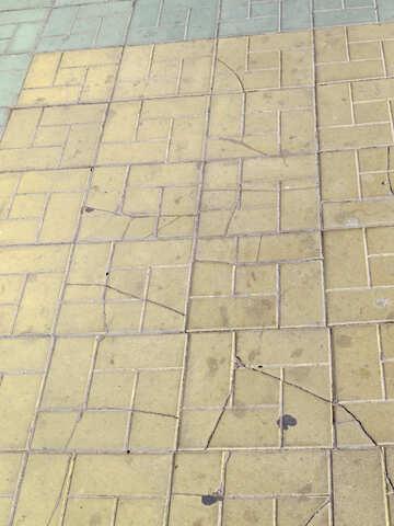 cracked tile floor №50518