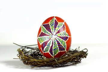 colourful egg in a nest №50261