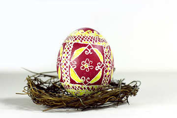 decoration easter egg in nest №50267