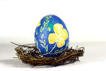 nest and earth globe easter painted egg №50269