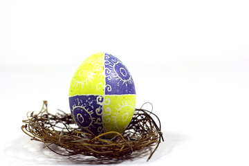 Uovo di Pasqua e nido №50251