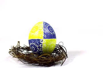 Uovo di Pasqua in un nido №50252