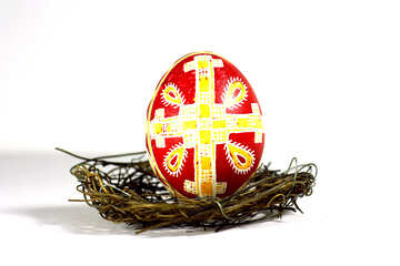 Easter egg in a nest with a pattern №50271