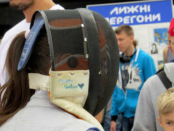 fencing helmet headset girl in mask №50801
