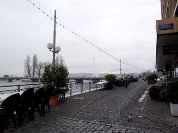 Cafe on the waterfront of Geneva №50057