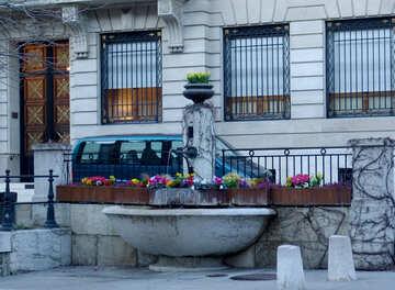 Una pequeña fuente fuente en Ginebra №50103
