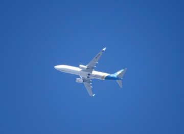 Airplane jet aero in sky №50326