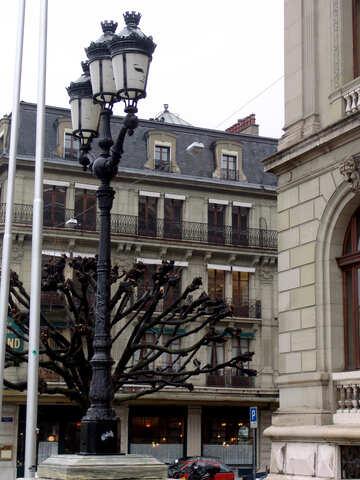 Old Lantern in Geneva №50199