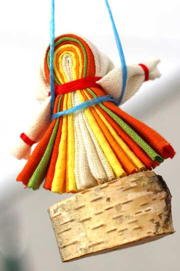 A lot of colourful handkerchiefs on a mini basket . №50982