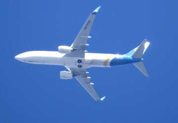 Passenger plane in the sky №50327